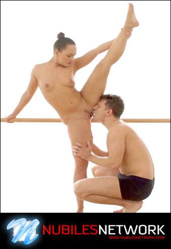 Blue Angel - Flexible Dancer Swallows Cum