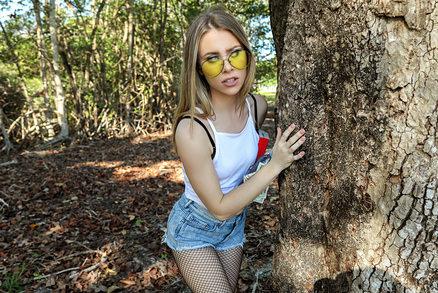 Anya Olsen - Blonde Rides Dick In Public Park